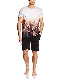 Arthur Pyjashort jersey PHOTO - ensemble  de pyjama - Homme