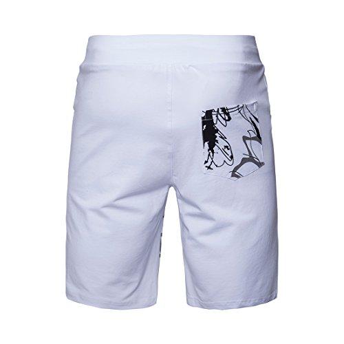EHOMEBUY -  Pantaloncini  - Uomo White1