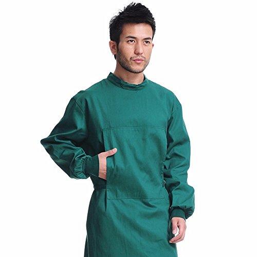 Xuanku U S. Poesie Yuan Chirurgie, Schwarz Grün Langarm Baumwolle Männer und Frauen, allgemeine Bürste Kleidung, chirurgische Verschleiß, antibakterielle und Komfortabel, F, schwärzlich grün
