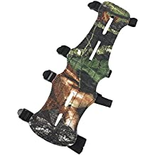 Magideal Riprese Pelle Guardia Braccio Tiro Con L'arco A Proteggere Sicuro 4 Cinghie Camuffamento