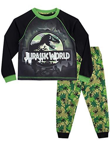 Jurassic world pigiama a maniche lunghe per ragazzi 7-8 anni