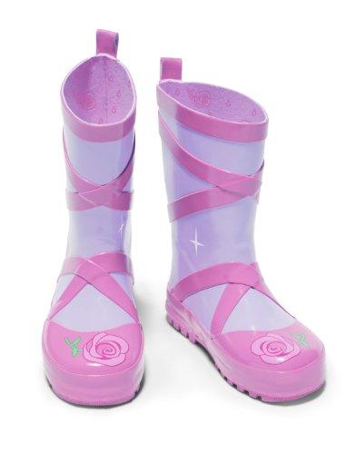 Kidorable Original Branded Ballerina Rubber Rain Boots, Wellies for Little Girls, Boys, Children, Toddlers