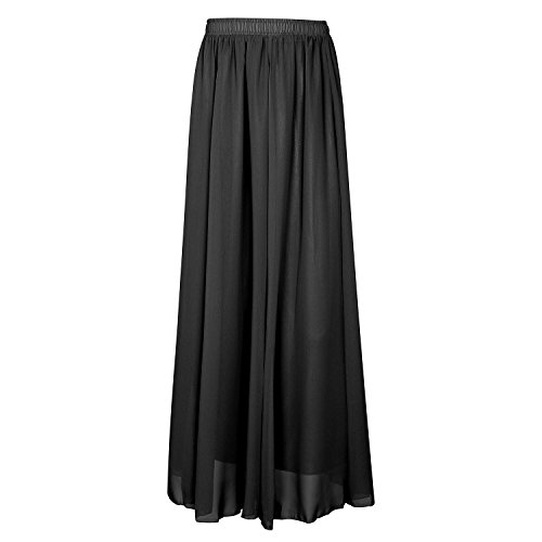 Omela Women Spring Summer Long Chiffon Skirt A-line for sale  Delivered anywhere in UK