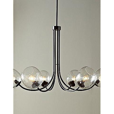 60W tradizionali lampadari con 6 luci e Glass-Bubble ombra , 220-240v,cac l1554