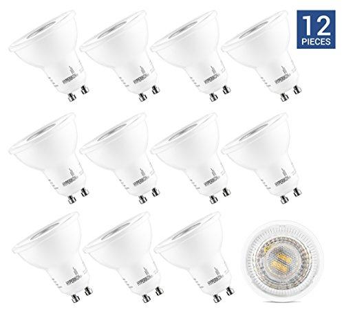 HyperSelect Ampoule LED Spot Culot GU10-5W - Blanc Chaud 2700K - Angle de Faisceau 40° - Éclairage du Plafond pour Rails de Spot/Luminaires - Lot de 12