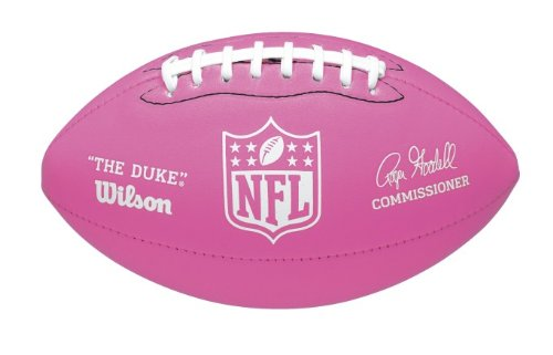 WILSON Mini Soft Touch NFL Fußball, Rosa -