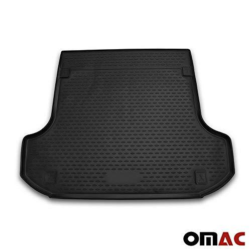 OMAC GmbH Kofferraumwanne Antirutschmatte Gummi Allwetter schwarz fahrzeugspezifisch für Logan MCV 2 ab 2013