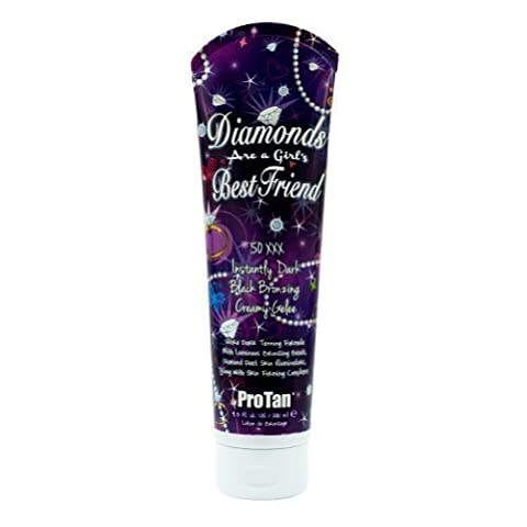 Pro Tan DIAMONDS ARE A GIRLS BEST FRIEND Dark Bronzer Tanning Bed Lotion Gelee by PRO TAN [Beauty] (English Manual)
