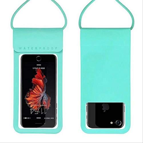 leihao888 6,0 wasserdichte Telefon Fall Abdeckung Touchscreen Handy Trockentauchen Tasche mit Trageriemen für iPhone Xiaomi Samsung Meizu TPU blau (Tasche Trageriemen Mit Telefon)