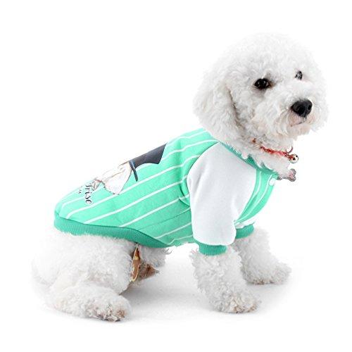 selmai Baseball Shirts für Hunde, Kleine Hunde Sweatshirts Hund T-Shirts Sweatshirt für einen Sport Streifen Freizeit für Welpen Chihuahua (Kostüme Kalten Am Besten Wetter)
