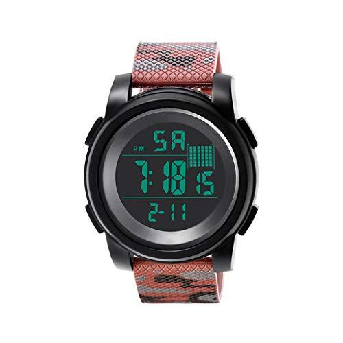 REALIKE Herren Digitale Armbanduhr, Classic Laufen wasserdichte Uhren, Cool Sport große Anzeige Sportuhr mit LED für Männer Erwachsene Smart Watch