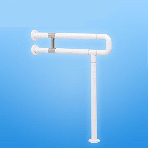 KHSKX Bad Handlauf Toilette WC Handlauf/Personen mit Behinderungen/Senioren, u-förmige Bodenschienen, white