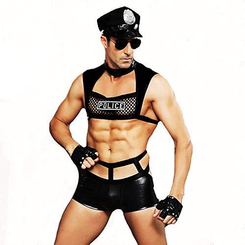 Uniform Cosplay Kostüm, Halloween Cop Uniform Outfit mit Handschellen ()