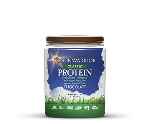 SUNWARRIOR Natürliches Reisprotein Schokolade, 1er Pack (1 x 500 g)