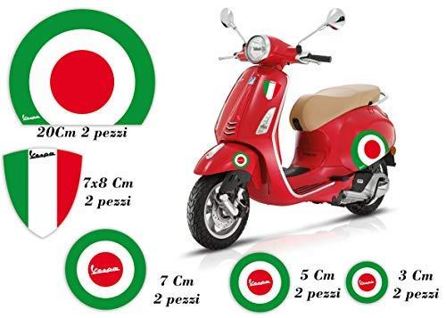 GamesMonkey Adesivi Stickers VESPA kit PIAGGIO VESPA BANDIERE ITALIA VINILE hd ET2 ET4 PX