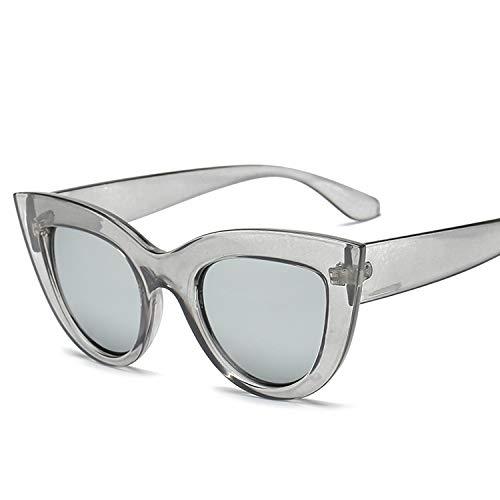 Yiph-Sunglass Sonnenbrillen Mode Cat Eye Mirrored Metal Frame UV400 Sonnenbrille für Damen (Artikelnummer : Hc2055c)