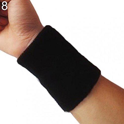 Handgelenk Schweißbänder Baumwolle Armband Schweißband Sport Baseball Tennis