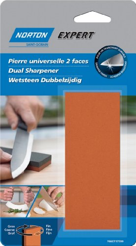 Norton Messerschärfer, 2 spezielle Oberflächen für Küchen- und Gartenutensilien (Steine Norton)