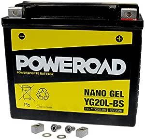 Gel Batterie Poweroad Ytx20l Bs 20ah Für Bombardier Buell Can Am Cectek Cfmoto Harley Davidson Kymco Linhai Masai Moto Guzzi Auto