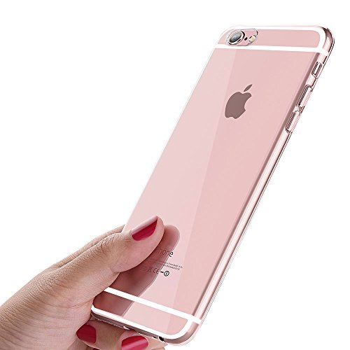 hutzhülle, iPhone 6 Handyhülle, Crystal iPhone 6S Hülle Ultra Dünn Kratzfest Anti-Shock Silikon Flexibel Gel TPU Bumper Case für iPhone 6 / iPhone 6S Cover - Transparent ()