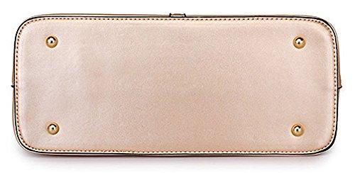 Honeymall uxe Pu Honeymall à main femme en cuir sac à bandoulière epaule de sac de femmes de la mode + porte-monnaie + carte 4pcs mis Or
