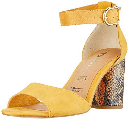 Tamaris 1-1-28055-32, Sandali con Cinturino alla Caviglia Donna, Giallo (Saffron 627), 39 EU