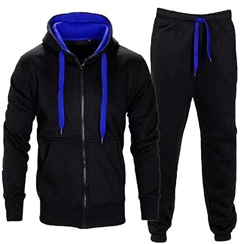 Juicy Trendz Uomo Tuta Sportive Incappucciato Cerniera Jogging Activewear Set di 2 Pezzi.