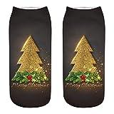 Unisex 3d Weihnachts Drucken Lange Socken, EUZeo Damen Herren Weihnachten Tiere Muster Knöchelsocken für Männer und Frauen Baumwollsocken ohne Naht und ohne Gummidruck Kuschelsocken