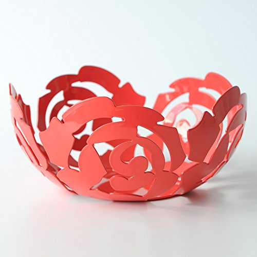 Color Plateado Alessi ESI15//21 La Rosa Frutero de Acero