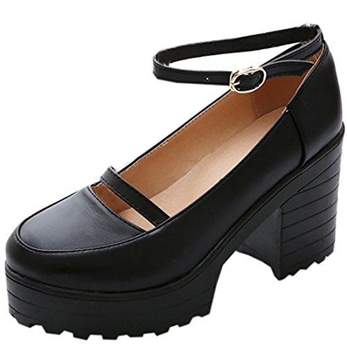 Partiss Damen Gothic Lolita Wedge Shoes High-top Casual Lolita Pumps Herbst Fruehling Hochzeit Tanzenball Maskerade Anime Cosplay Diestmaedchen Platform Pumps Lolita...