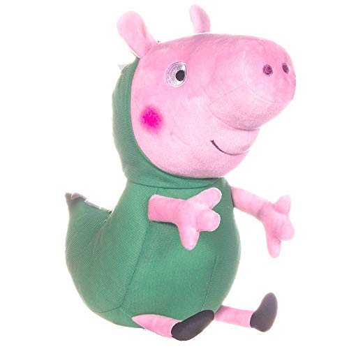 Whitehouse Selección Figura de Peluche 30 cm | Peppa Pig | Softwool | Felpa, Figura:George como Dinosaurio