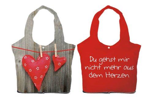 """TASCHE FÜR DICH :-) """" Herzen (rot) """""""