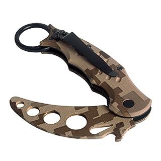 Andux Zone Neck taktisches klapp Metal Training für Camping Jagd Angeln Tarnung CS/WD01