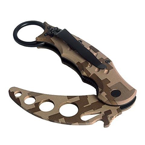 Andux Zone Neck taktisches klapp Metal Training für camping jagd angeln Tarnung CS/WD01 (Heavy Duty Machete)