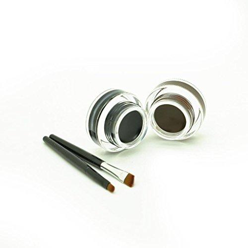Ucanbe 2 in 1 Brown and Black Waterproof Gel Eyeliner Set