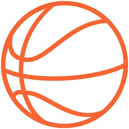 Samunshi® Autosticker Basketball Aufkleber in 8 Größen und 25 Farben (10x10cm orange)