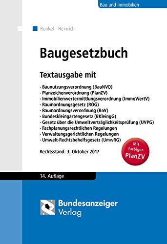 Baugesetzbuch: Textausgabe