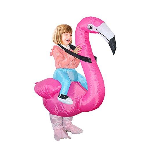 Gaeruite - costume gonfiabile per adulti, bambini, a forma di fenicottero rosa, per cosplay, per costume per halloween, natale, feste