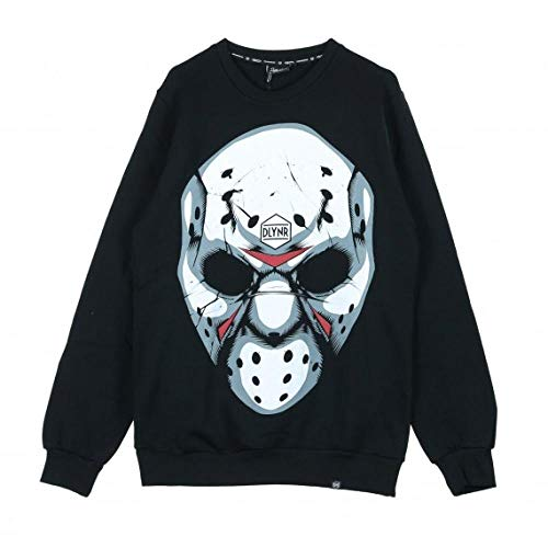 DOLLY NOIRE Felpa Uomo Hockey Mask Crewneck SW93 (S - Black) (Crewnecks Hockey)