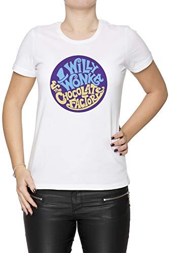 Willy Wonka and The Chocolate Factory - Gene Wilder Damen T-Shirt Rundhals Weiß Kurzarm Größe XS Women's White T-Shirt X-Small Size ()