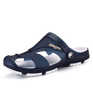 Slippers & amp da uomo;Hole Scarpe sintetico Primavera Estate Outdoor Verde Blu Navy Grigio Scuro Blu sandali US10 / EU43 / UK9 / CN44