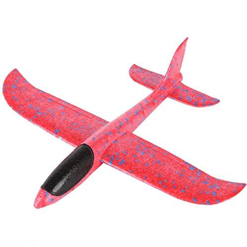 gzeug, mamum Schaumstoff Werfen Glider Flugzeug Trägheit Aircraft Spielzeug Hand Launch Flugzeug Modell Einheitsgröße rose (Glider Spielzeug)