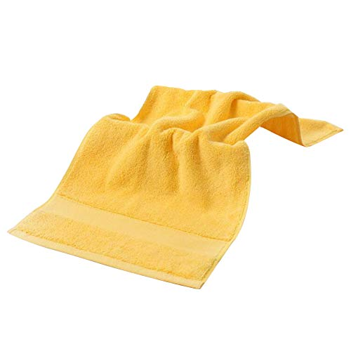 iKulilky Handtuch Baumwolle,Handtücher Camping Badetücher Groß Duschtücher Gästetücher für Sport Reisen Fitnessstudio - Gelb