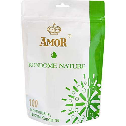 """AMOR\""""Nature\"""" 100er Pack Markenkondome, für pures Gefühl, hauchzart und feucht"""