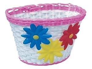 Adie Girl's ACB002 Wicker Effect Basket - Pink/White