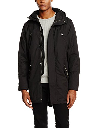 JACK & JONES Herren Jacke Jcofine Parka Jacket, Schwarz (Black Fit:Reg), Medium