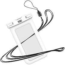 Funda Impermeable YOSH® Bolsa Impermeable Sumergible para Móvil iPhone se 5 5s 6 6s Plus Samsung LG HTC HUAWEI Funda Acuática Resistente al Agua IPX8 Certificado Universal 6 Pulgadas (blanco)