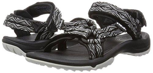 Teva - Terra Fi Lite W's, sandali sportivi da donna, nero (schwarz (824 trueno black)), 38 Nero (Schwarz (824 trueno black))