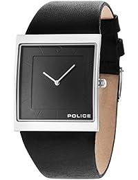 Police Skyline X Reloj de hombre de cuarzo con Esfera Analógica Gris y Negro Correa de piel 14694–MS/61