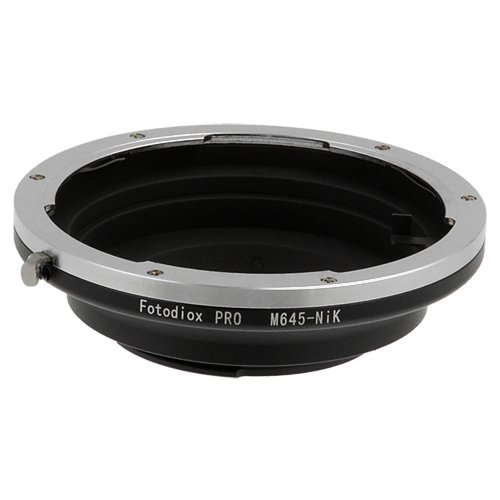 Fotodiox Pro Lens Mount Adapter, Mamiya 645 Lens to Nikon F-Mount Camera - Does NOT work with M645 Digital AF or Phase 1 Lenses -